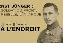 "Les Idées à l'endroit n°27 - ""Ernst Jünger : le Soldat du Front, le Rebelle, l'Anarque"""
