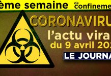 JT - Coronavirus : le point d'actualité - Journal du jeudi 9 avril 2020